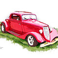 Nineteen Thirty-two Ford Coupe by Margie Middleton