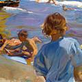 Ninos En La Playa. Valencia by Joaquin Sorolla y Bastida