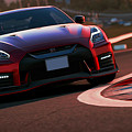 Nissan Gtr On Track by Andrea Mazzocchetti