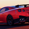 Nissan Gtr Rear View by Andrea Mazzocchetti