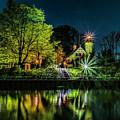 Nite At White River Light by Nick Zelinsky
