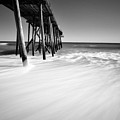 Nj Shore In Black And White by Paul Ward