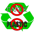 No Paper No Plastic Recycle by Methune Hively