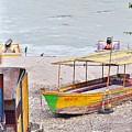 No Swimming - Rishikesh India by Kim Bemis