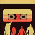 No812 My Guardians Of The Galaxy Minimal Movie Poster by Chungkong Art