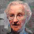 Noam Chomsky Portrait 1059 by Maciej Mackiewicz