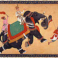 Nobleman Riding Elephant by Granger