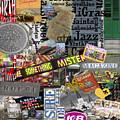 Nola Collage Art Shotgun House by NolaOriginals