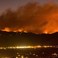 North Boulder Colorado Fire Above In The Hills by James BO  Insogna