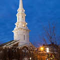 North Church At Twilight, Portsmouth, New Hampshire by Dawna Moore Photography