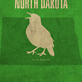 North Dakota State Facts Minimalist Movie Poster Art by Design Turnpike