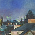 North Hollywood Sky Line by Bernadette Tibazi