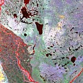 North Of Canada From Space by Leonardo Sandon