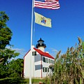 North Wind At East Point Light by Nancy Patterson