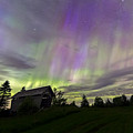 Northern Lights Cabot Vermont by John Vose