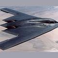 Northrop Grumman B-2 Spirit Stealth Bomber With Double Border by L Brown