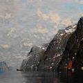 Norwegian Fjord Landscape by Georg Anton Rasmussen