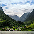 Norwegian Fjord Village by KG Thienemann