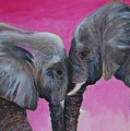 Nose To Nose In Pink by Emily Page