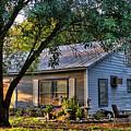 Nostalgic Old Cottage In Evening Light by Linda Phelps