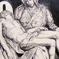 Nothing Can Be Added - Close Up Pieta by Amy S Turner