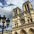 Notre Dame And Lamppost by Dave Byers