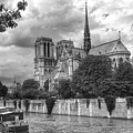 Notre Dame And Seine by Dave Byers
