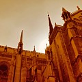 Notre Dame At Sunset by Tony Grider