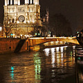 Notre Dame Bridge Paris France by Lawrence S Richardson Jr