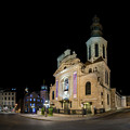 Notre-dame De Quebec Basilica-cathedral At Night by Chris Bordeleau
