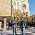 Notre Dame Library And Statue by John McGraw