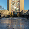Notre Dame Library Touchdown Jesus by John McGraw