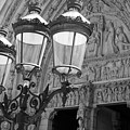 Notre Dame Street Lights Paris France Black And White by Toby McGuire