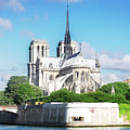 Notre Dame Over Water by Anastasy Yarmolovich