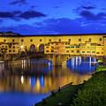 Notte A Ponte Vecchio by Inge Johnsson