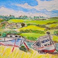 Nova Scotia Fishing Boats by Lessandra Grimley
