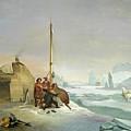 Nova Zembla Coast by Francois-Auguste Biard