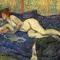 Nu Couche Naked Lying  by Henri De Toulouse Lautrec