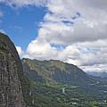 Nu Uanu Pali Valley Overlook On Oahu Island Hawaii  by Brendan Reals