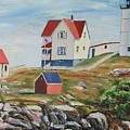 Nubble Light House Maine by Richard Nowak
