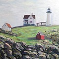 Nubble Light House by Richard Nowak