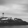 Nubble Lighthouse Overcast Bw by Michael Ver Sprill
