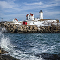 Nubble Lighthouse Winter by Gary Shepard