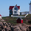 Nubble Point Lighthouse by George Oze