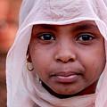 Nubian Girl In Color by Anze Polovsak