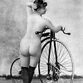 Nude And Bicycle, C1885 by Granger