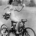 Nude And Bicycle, C1900 by Granger