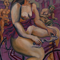 Nude Cyclists With Carracchi Bacchus by Peregrine Roskilly