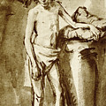 Nude Drawing For A Youth by Rembrandt Harmensz van Rijn