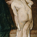 Nude Drying Herself After A Bath by Eduardo Rosales Gallinas